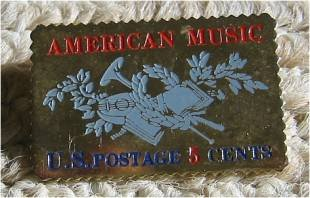 American Music stamp pins lapel pin hat tie tac 1252