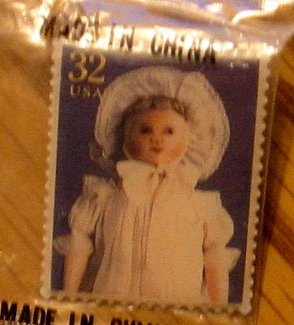 Columbian Doll Stamp pin lapel pins hat tie tac 3151b S