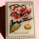 Prairie Crab Apple Flowering Trees Stamp Pin lapel 3196