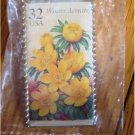 Winter Aconite Garden Flower stamp pin lapel hat 3026 s