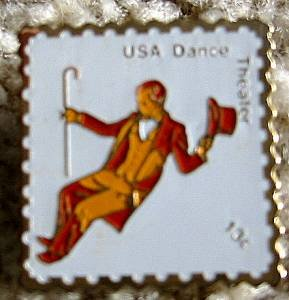 Theater Dance stamp pin lapel pins hat tie tac 1750