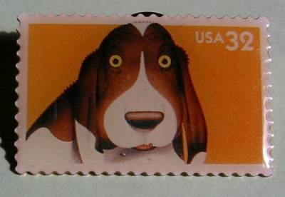 Dog Bright Eyes Puppy Stamp pin lapel pins hat 3230