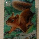 Douglas Squirrel lichen stamp pin lapel pins hat 3378i