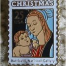 Madonna Child Mary Boticelli Stamp pin lapel hat 2399