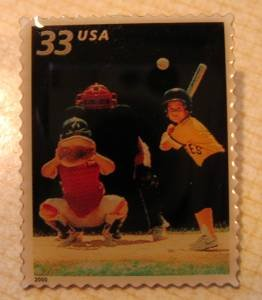 Baseball Youth Sports stamp pins lapel pin hat tie tac 3402