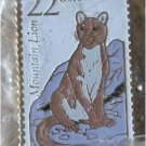 Mountain Lion Wildlife stamp pins lapel pin hat 2292