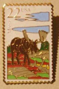 Moose Wildlife Stamp magnet cloisonne new 2298mg