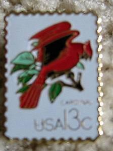 Cardinal CAPEX 1978 stamp pin cloisonne lapel hat 1757A