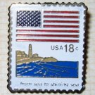 U.S. Flag From sea to sea stamp pins hat lapel pin 1891 s