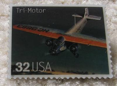 Tri-Motor Classic Aircraft stamp pins lapel pin 3142p s