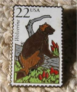 Wolverine Wildlife Michigan stamp pin hat lapel pins 2327