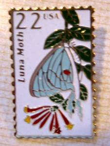 Luna Moth Wildlife stamp pins tie tac lapel pin 2293