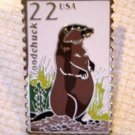 Woodchuck Wildlife stamp pins lapel pin hat 2307