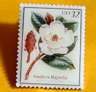 Southern Magnolia Flowering Trees Stamp Pins lapel pin 3193