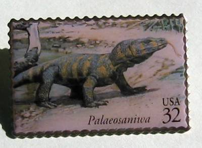 Dinosaur Palaeosaniwa metal stamp pin lapel pins hat 3136L S
