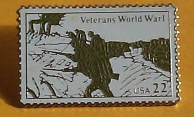 Veterans World War I Stamp Pin lapel pins hat 2154