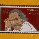 William Saroyan Stamp Pin lapel pins hat tie tac 2538 s