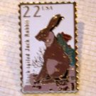 Black-tailed Jack Rabbit Wildlife stamp pin lapel 2305