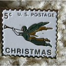 Christmas Angel Trumpet stamp pin hat lapel pins 1276