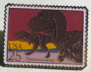 T. Rex Tyrannosaurus Dinosaur stamp pin T. Rex lapel pins hat 2422 S