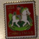 Hobby Horse Christmas stamp pin lapel pins hat 1769