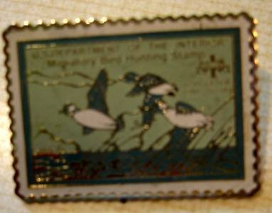 Buffleheads duck stamp pin lapel pins hat tie tac RW15 S