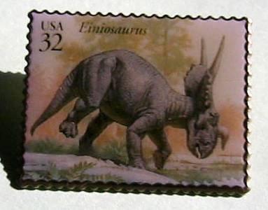 Einiosaurus Dinosaur stamp pins lapel pin hat 3136j S