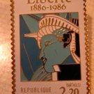 Statue Liberty Liberte stamp pin lapel pins hat 2224f
