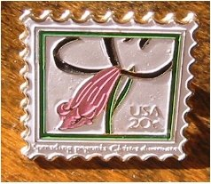 Spreading Pogonia Orchid Stamp pin lapel pins hat 2078s