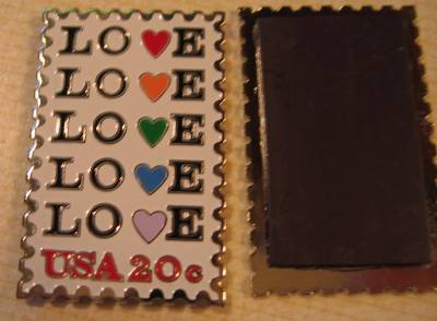 Love 1984 Stamp refrigerator magnet white 2072mgw