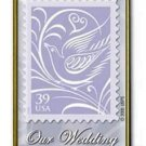 Our Wedding 39c Stamp pin lapel pins tie tac hat 3998