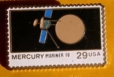 Mercury Mariner 10 Stamp pin lapel pins hat NASA 2568