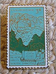 Mt. Rushmore South Dakota stamp pin lapel pins 1011