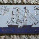 Steamship lapel pins stamp pin tie tac cloisonne 923