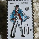 Marine Musket Sailing Ship stamp pin lapel pins 1567