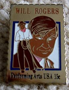 Will Rogers stamp pin lapel hat pins tie tac new 1801
