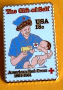 American Red Cross Nurse lapel pins hat Stamp pin 1910 S