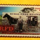 Horse Buggy RFD Rural Free Delivery  stamp pin lapel hat 3090 S