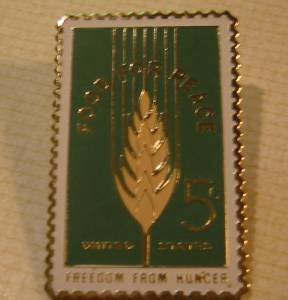 Food for Peace Hunger Agriculture mini Stamp pin 1231s