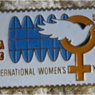World Peace Womens Year stamp pin lapel dove hat 1571 S