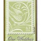Our Wedding 63c Stamp pin lapel pins tie tac hat 3999