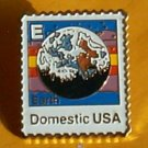 Earth E Stamp pin lapel pins hat collectible new 2277