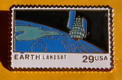 Earth Landsat NASA Stamp pin lapel pins hat 2570