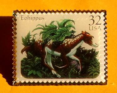 Eohippus Ice Age stamp pin lapel pins hat tie tac 3077 s