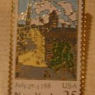 New York NY stamp pin tie tac lapel pins hat 2346