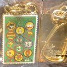 Girl Scout Scouts Badge Stamp Key chain 2251kc S