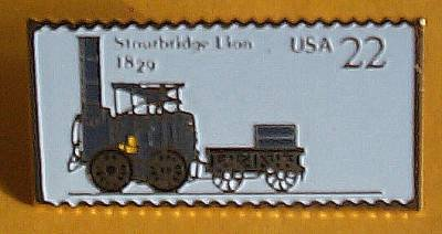 Stourbridge Lion Locomotive Stamp Pin lapel pins 2362 S