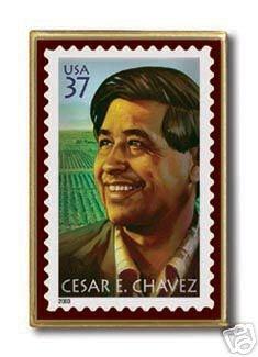 Cesar Chavez Stamp pin lapel pins hat tie tac 3781 S