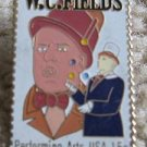 W.C. Fields stamp pin lapel pins hat tie tac new 1803