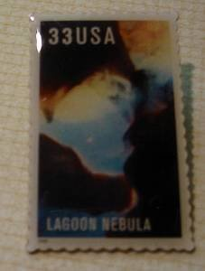 Lagoon Nebula Hubble stamp pin lapel hat tie tac 3386